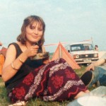 My first Glastonbury - age 17! Abiding memories - The Cure playing in a thunderstorm, The Waterboys, naked men on horses.