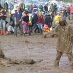 Mud bath !  Glastonbury 2004