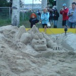 Sand sculpture at The Park