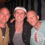 This is when me and my mate Darren met Jake Shears after the Scissor Sisters triumphant set on Saturday night