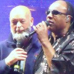 Stevie Wonder and Micheal Eavis on the pyramid stage. Thanks again for a Great Festival... not the best pic I have though ......