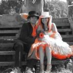 A beautiful shot of the Glasto 40 Newlyweds David & Alicia Pymm