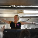 we all thanked this lovely lady for her hard work in thehurly burly kitchen. u r a star !