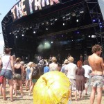 gorgeous parasol of gold at The Park stage.
