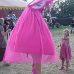 A magical meeting between 2 pink ladies....