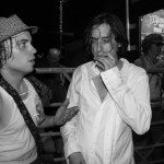 Carl Barat and fans