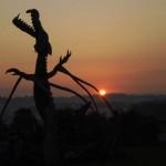 Sun rise over stone circle