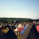 Ridge tents facing the pyramid