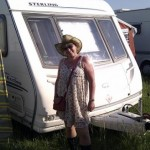Heather and her caravan.
