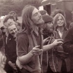 Photo by Geoffrey Bowler of Glastonbury Fayre, Summer solstice, 1971