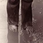 Glastonbury Fayre = mud!  Even in 1971.  Photo taken by Geoffrey Bowler.