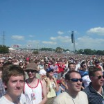 England game on the Wednesday, view from the front