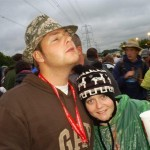 AK + DJ soaking up the amazing glasto atmosphere 08