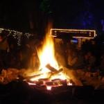 The campfire at Strummerville.