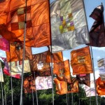 Flags are such an important part of Glastonbury. This is a special HDR capture.