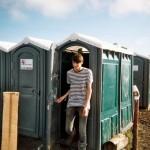 Happy Toilet User