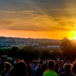 Last sunrise of Glastonbury Festival 2011