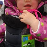 Gladys' first Glastonbury... Watching BB KING in the rain at the Pyramid