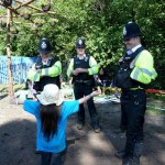 "Neamh aged 8 offering ""free hugs"" to the local cops"