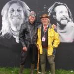 Nik Turner (Hawkwind) & Andrew Kerr - the brains behind the whole glastonbury festival idea