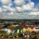Overlooking an epic day at glastonbury