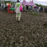 Mud outside Oxylers West in The Dance Village after seeing Phoenix Foundation.