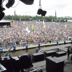 Once in a lifetime view - Pyramid Stage
