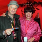 Divine's Charlotte Borger with Billy Bragg at Leftfield