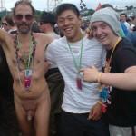 Naked man.
