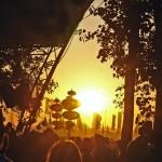 Sun sets over festival