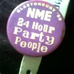 Happy Mondays inspired badge from the NME stall.