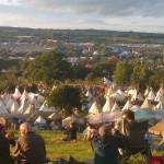 Amazing view on a Glastonbury thursday night.