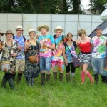 Group photo of the Veall's Glastonbury 2011. RIP Pru Veall(2nd from the left) we will be thinking of you this Glastonbury 2013!!