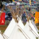 Tipis and campervan update (and a Tipi Field panorama)