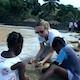 Emily Eavis and Chris Martin in Haiti