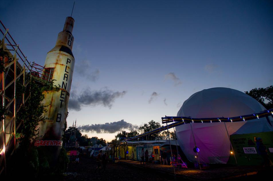 Rocket Saturn V on the Greenpeace field.