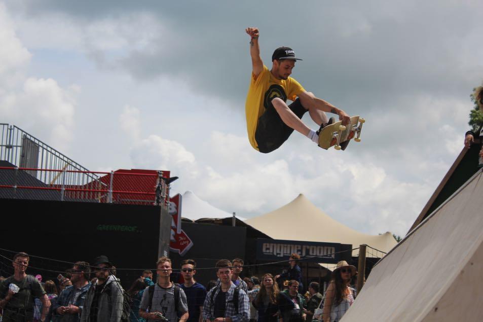 Skate ramp at Glastonbury.