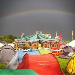 Magical rainbow over the Green Fields