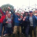 Doncaster lads at Glastonbury 2014.