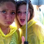 in our banana ponchos when it rained watching kodaline
