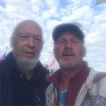My mate huband Alan with Michael Eavis