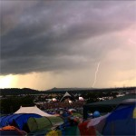 Lightning over the Pyramid Stage