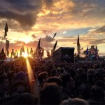 Jurassic 5 Crowd and sunset.