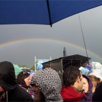 Rudimentals Rainbow - The day we had ten thousand people under 2 umbrellas