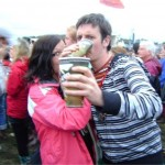 Steve & Michelle living the Glasto 2008 Dream!