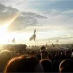 Sunset before Paolo Nutini!