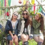 Sisters at Glastonbury