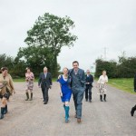 Album gatefold shot - wedding day visit to Worthy Farm Sept 2014