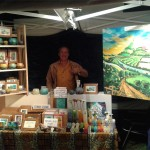 Tim Lee the artist and stall holder