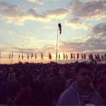Sunset at the other stage